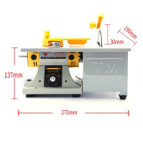 110V Electric Mini Precision Table Saw Big Bench Lathe DIY Woodworking Polishing Cutting Machine With US Plug