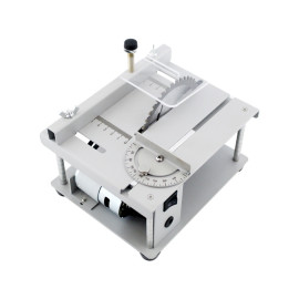 Mini Bench Table Saw Blade Woodworking Cutting Polishing Carving Machine WT With And 110V-240V AC Adapter US Plug & 110mm Blade