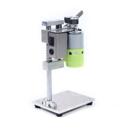 Table Mini Electric Drill Press Drill Bits Power Tools B12 (1.5-10mm) Drilling stroke 40mm With 110V-240V AC Adapter & US Plug