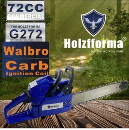 72cc Holzfforma® G272 Gasoline Chain Saw Power Head With Genuine Walbro Carburetor and Ignition Coil Without Guide Bar and Chain By Farmertec All Parts Are Compatible With HUSQ 61 268 272 XP Chainsaw