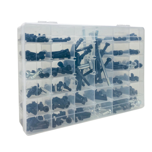 340IN1 Hexagon Flange Screws Nuts Kit For Most of Husqvarna Chainsaws 137 142 50 51 55 61 268 272 281 288 340 345 350 353 357 359 362 365 372 394 395 435 440 445 450