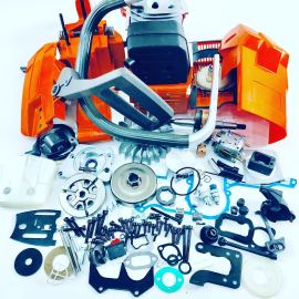 Kit de réparation complet pour Husqvarna 61 XP moteur carter gaz réservoir de carburant bobine d'allumage vilebrequin carburateur cylindre Piston recul démarreur silencieux