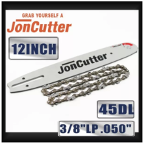 12 inch 3/8 LP .050  45DL Saw chain and Guide Bar Combo For JonCutter Prowler Puppy G2500 Chainsaw