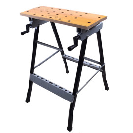Portable Adjustable Folding Work Bench Table Tool For Woodworking Garage Repair Workshop