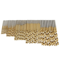 50PCS 1/1.5/2/2.5/3mm HSS Titanium Coated Twist Drill Bits High Speed Steel Drill Bit Set