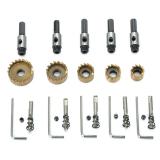 5 pièces 16 / 18.5 / 20/25 / 30mm trou revêtu de titane trou en dent de scie coupe-foret en acier haute vitesse HSS6542 ensemble