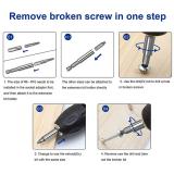 22-teiliges Set für beschädigte Schraubenabzieher für defekte Schrauben HSS-Schraubenentfernungssätze für defekte Schrauben