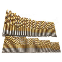 99PCS 1.5mm-10mm HSS Titanium Coated Twist Drill Bits High Speed Steel Drill Bit Set