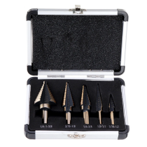5pcs HSS Step Drill Bit Set Hole Cutter Drilling Tool Multiple Hole 50 Sizes with Aluminum Case
