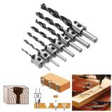 7 pièces HSS 5 flûte fraise foret ensemble alésoir travail du bois 3-10mm chanfrein forets