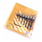 7pcs HSS 5 Flute Countersink Drill Bit Set Reamer Woodworking 3-10mm Chamfer Drill Bits