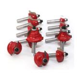 35 pièces fraise fraise routeur ensemble 8mm tige coupe outil de travail du bois avec boîte en aluminium