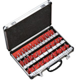 35PCS Milling Cutter Router Bit Set 8mm Shank Trimming Woodworking Tool With Aluminium Box