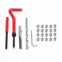 25PCS M6 x 1.0 Helicoil Restoring Thread Repair Tools Wire Insert Kit Compatible Hand Repairing Tool