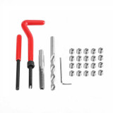 25pcs M5x0.8 Helicoil Restoring Thread Repair Tools Wire Insert Kit Compatible Hand Repairing Tool