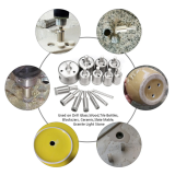 15Pcs 6-50mm Diamond Hole Saw Drill Bit Set Tile Ceramic Glass Marble Drill Bits