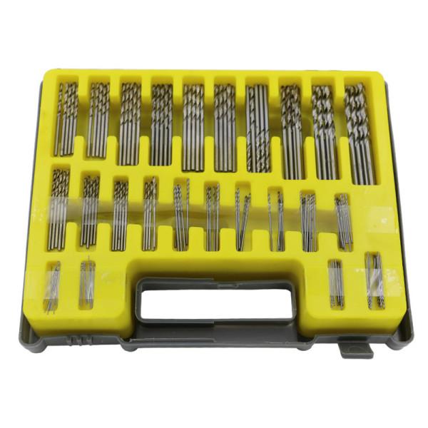 Conjunto de brocas HSS 150pcs 0.4 mm - 3.2 mm Brocas de perfuração manuais de aço de alta velocidade