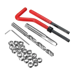 25pcs M8x1.25 Helicoil Restoring Thread Repair Tools Kabeleinsatz-Kit Kompatibles Handreparaturwerkzeug