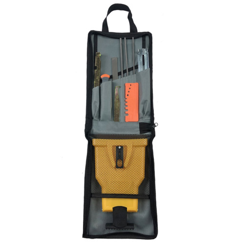 10pcs Chain Saw Sharpener Chainsaw Sharpening Round Flat Files Depth Gauge Kit
