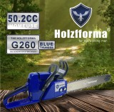 50.2cc Holzfforma® Blue Thunder G260 Gasoline Chain Saw Power Head Without Guide Bar and Chain Top Quality By Farmertec All Parts Are Compatible With Stihl MS260 026 MS240 024 Chainsaw