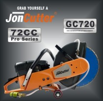 72cc JonCutter GC720 Gasoline Concrete Cut-Off Saw Cement Concrete Cutter Blade Not Included