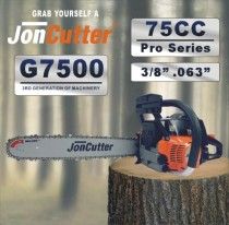 75cc JonCutter essence tronçonneuse tête sans chaîne de scie et guide-chaîne