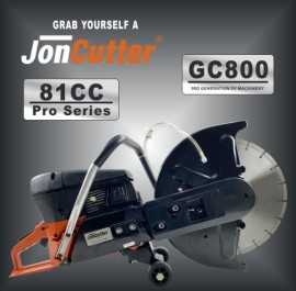81cc JonCutter GC800 Gasoline Concrete Cut-Off Saw Cement Concrete Cutter Blade Not Included