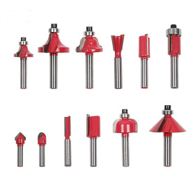 12PCS Milling Cutter Router Bit Set 8mm Shank Trimming Woodworking Tool