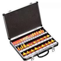 Conjunto de ferramentas de corte de madeira para corte de madeira de 35 unidades com caixa de alumínio