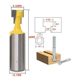 1/2'' Shank 3/8'' Blade Key Hole Blades T-Slot Cutter Wood Working Router Bit