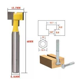 1/4 '' Shank 1/2 '' Blade Key Hole Blades T-Schlitzfräser Holzbearbeitungsfräser