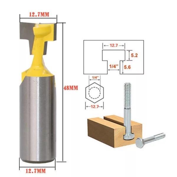 1/2'' Shank 1/2'' Blade Key Hole Blades T-Slot Cutter Wood Working Router Bit