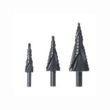 3pcs 4-12 / 20 / 32mm HSS escalonado broca conjunto cortador de orifício com ranhura em espiral