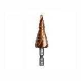 """Cortador de furo com ranhura em espiral de 4-20mm 1/4 """"de haste hexagonal HSS-Co escalonado"""