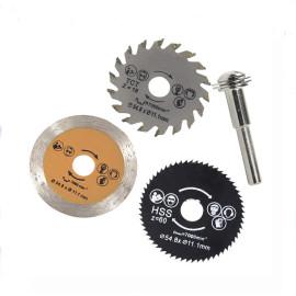 3 pièces 54.8mm lame de scie circulaire HSS Mini lame de scie circulaire en bois lame de coupe outil rotatif