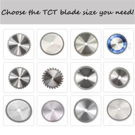 Lâmina de serra circular multifuncional multi-especificações TCT Alloy para corte de aço, alumínio, metal, madeira, plástico