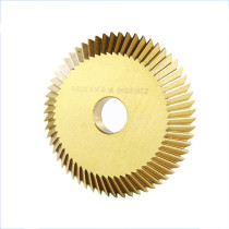 60mm/70mm Titanium Coated Circular Saw Blade 90T Single-sided/Double-sided Tooth Compatible with Most Horizontal Key Cutting Machine