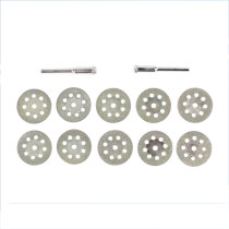 10pcs 20mm/22mm/25mm/30mm Diamond Coated Saw Blade 9 Holes Double Sided Diamond Cutting Discs with 2Pcs Mandrel