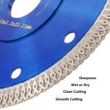 Disco de serra de cerâmica de diamante de 105mm / 115mm / 125mm de cerâmica de porcelana para corte afiado