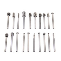 6pcs/10pcs/20pcs (1/8'' Shank) Tungsten Carbide Burr Rotary Drill Bits Cutter Files Set