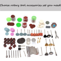 76pcs/130pcs/143pcs/166pcs/217pcs/350pcs Rotary Tool Accessories Set Compatible with Dremel Grinding Sanding Polishing Tool