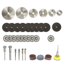 63pcs Diamond Cutting Disc Grinding Wheel Circular Saw Blade Compatible with Rotary Tool Wood Cutting Disc