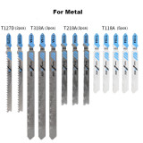 48pcs Reciprocating Saw Blade Set Jigsaw Blade Compatible with Wood Metal Cutting