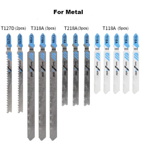 48pcs Reciprocating Saw Blade Set Jigsaw Blade For Wood Metal Cutting