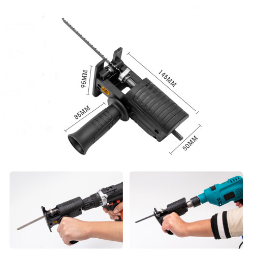 Reciprocating Saw Attachment Adapter Change Electric Drill Into Reciprocating Saw With Oil Can For Wood Metal Cutting