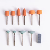 10pcs Abrasive Mounted Stone Grinding Stone Head Wheel Abrasive Tool Compatible with Rotary Tool Grinding Polishing Carving Burnishing