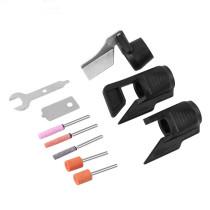 Guia de afiação de acessório de afiação de serra de corrente com adaptador de broca de afiador de ferramenta de jardim