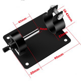 Electric Drill Cutting Seat Stand Machine Bracket Rod Bar Table Cover with 2 Wrenches