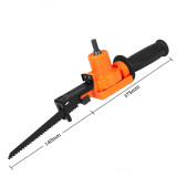 Reciprocating Saw Attachment Adapter Change Electric Drill Into Reciprocating Saw Compatible with Wood Metal Cutting