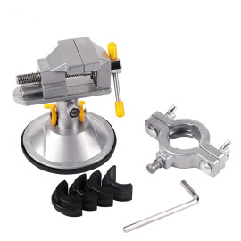 360 Degree Rotary Adjustable Table Vise Fixed Frame Sucker Clamp Adjustable Table Vise Rotatable Alloy Bench